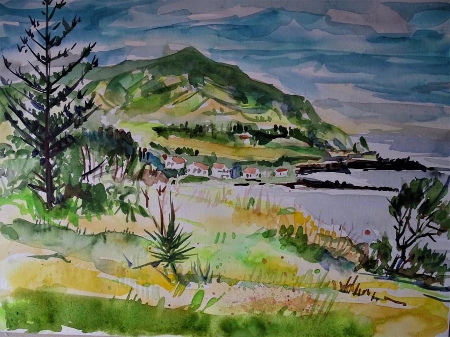 Sao-Roque-Azoren-Aquarell-Nadia-Baumgart