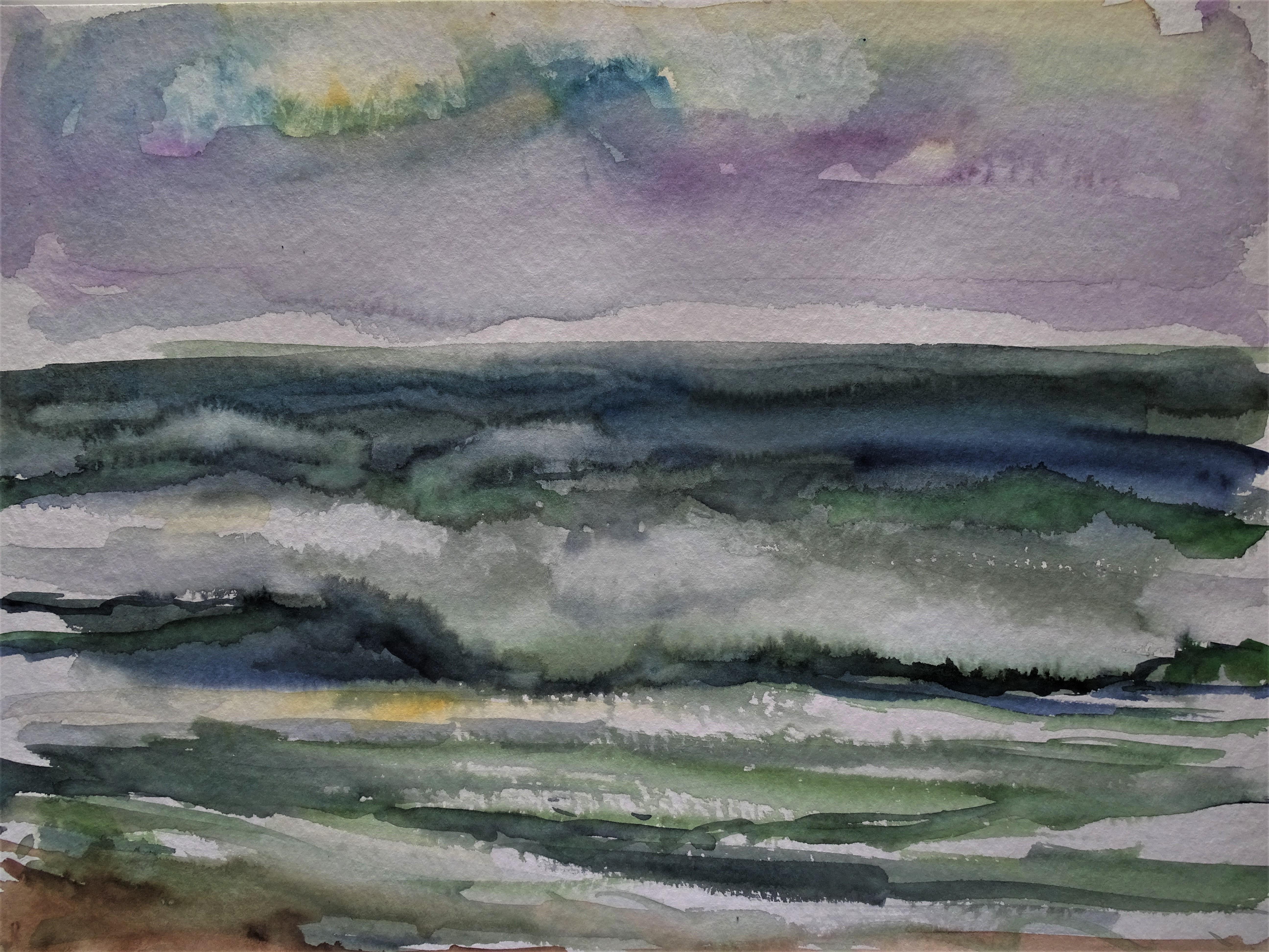 Sturmwetter-Atlantik-Aquarell-Nadia-Baumgart