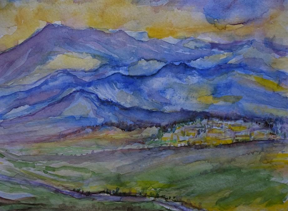 Montagne-Aquarelle-Nadia-Baumgart