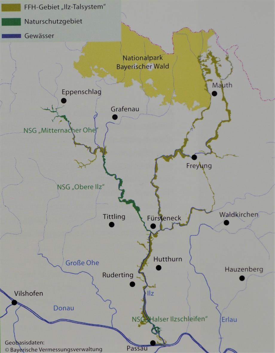 Karte-Ilztal-Map