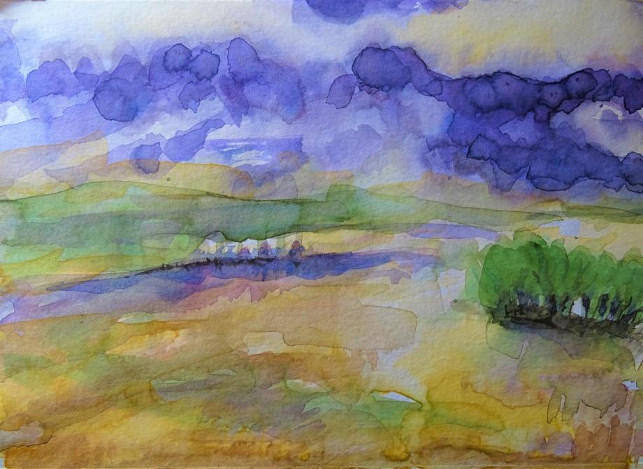 Kleine-Landschaft-Aquarelle-Nadia-Baumgart