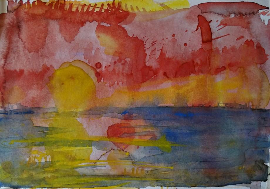 Sonne-Sun-Soleil-Aquarell-Nadia-Baumgart
