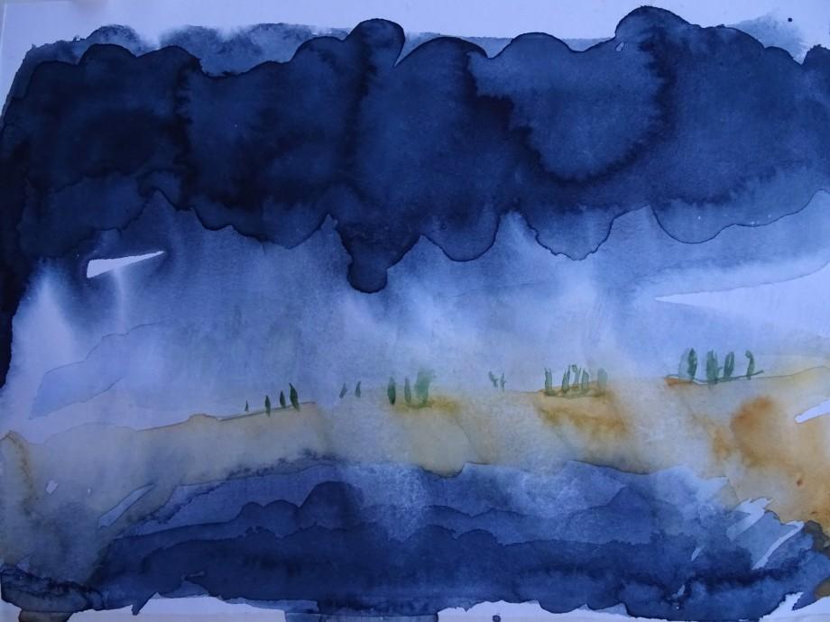 Sonnenaufgang-Aquarell-Nadia-Baumgart