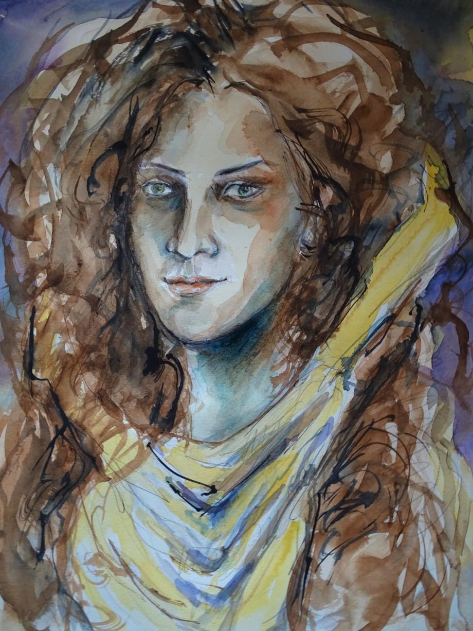 Syrisches-Maedchen-Aquarell-Nadia-Baumgart