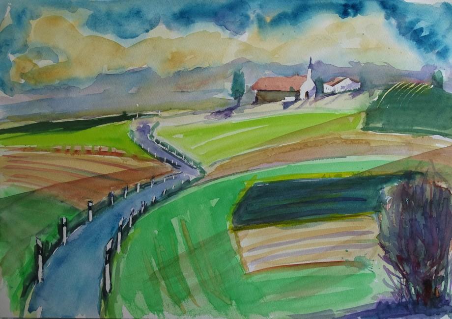 Rottaler-Landschaft-Aquarelle-Nadia-Baumgart