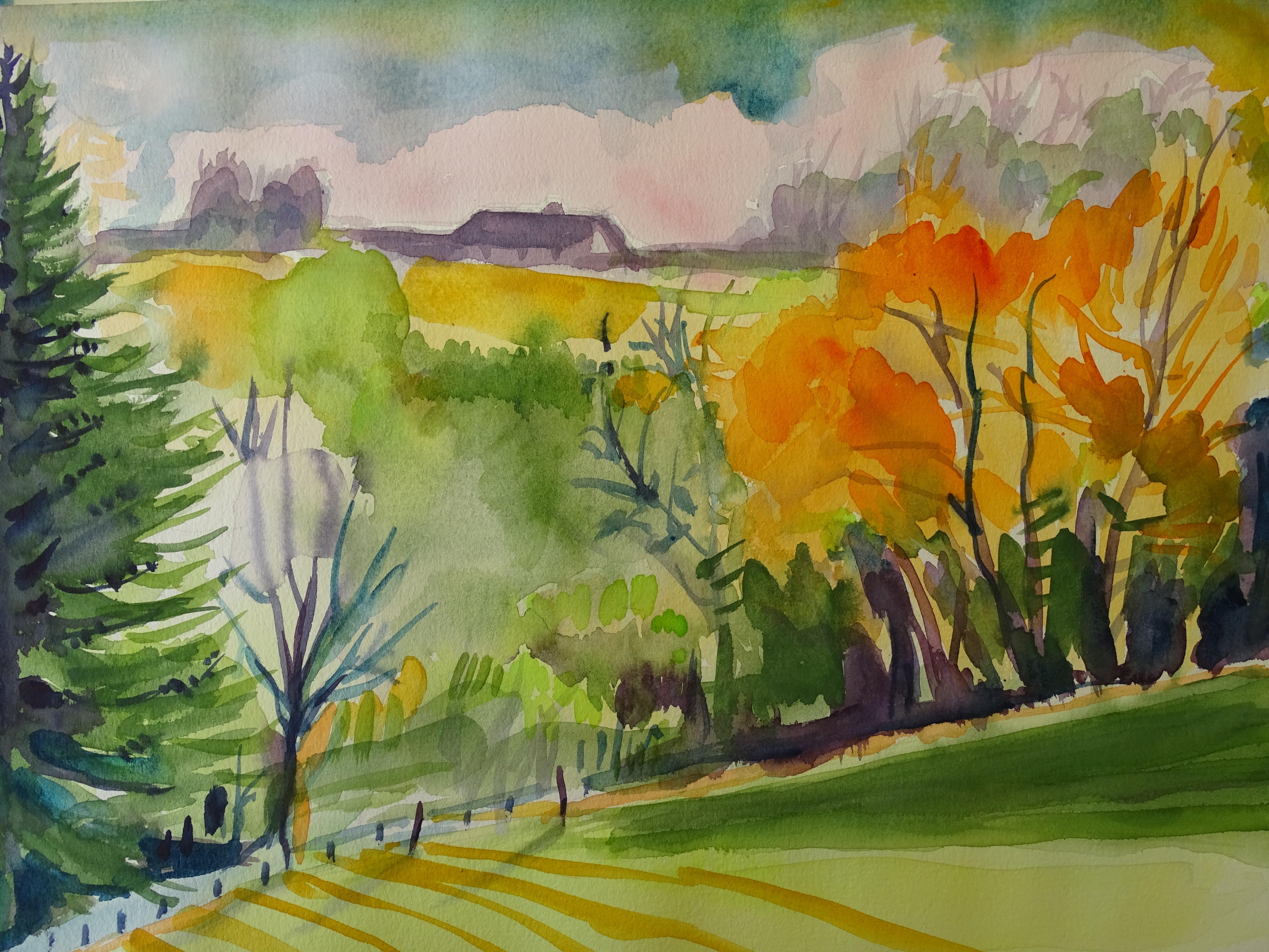 A-Rottaler-Landschaft-Aquarelle-Nadia-Baumgart