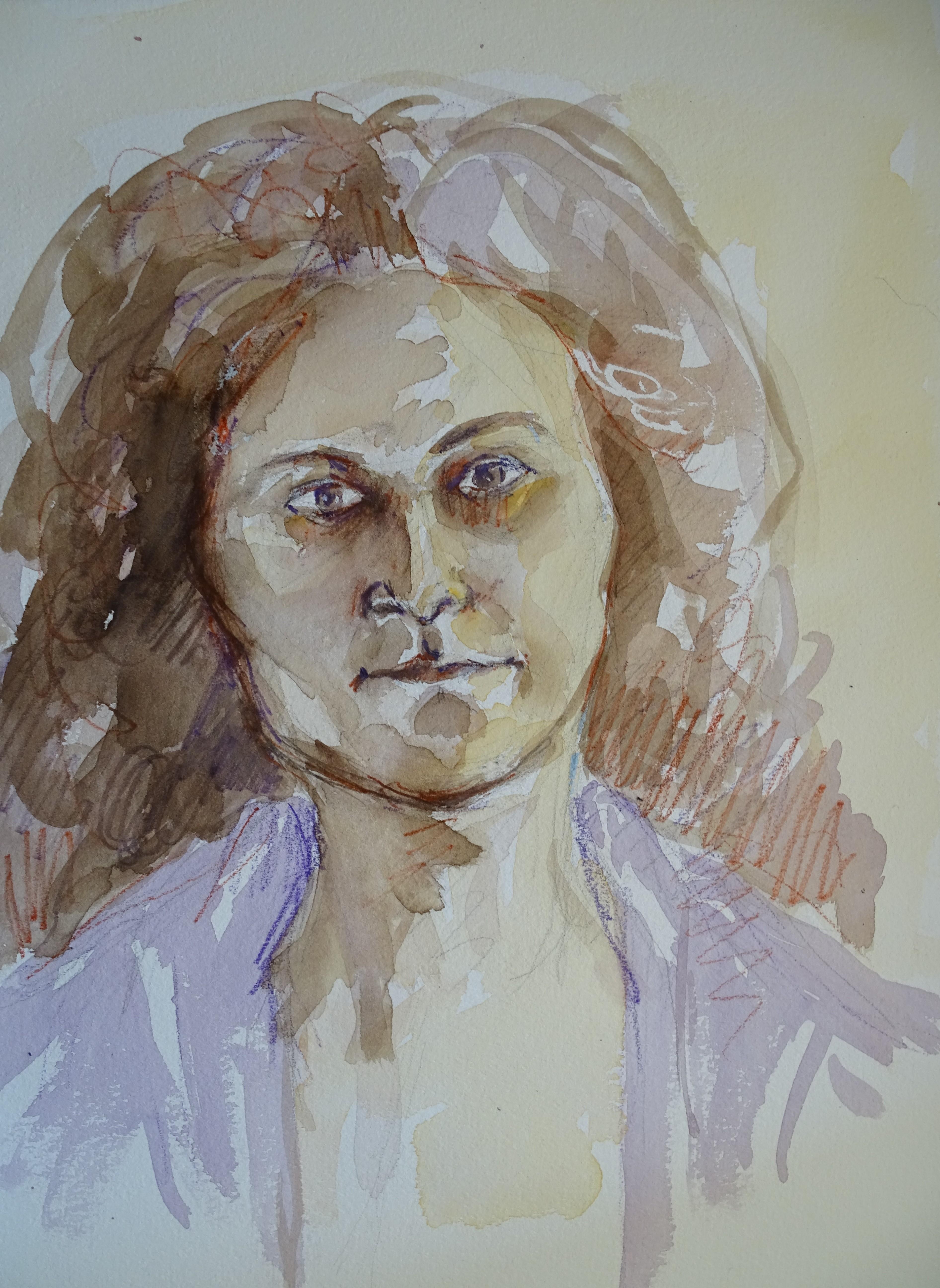 Portrait-Nadia-Aquarell-Zeichnung-Kunst-Bad-birnbach