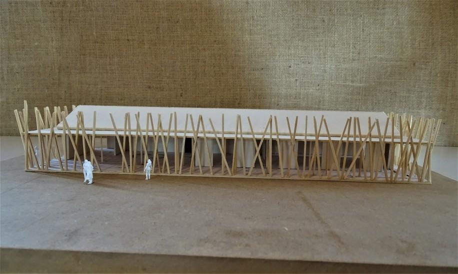 Modell des neuen Infozenters
