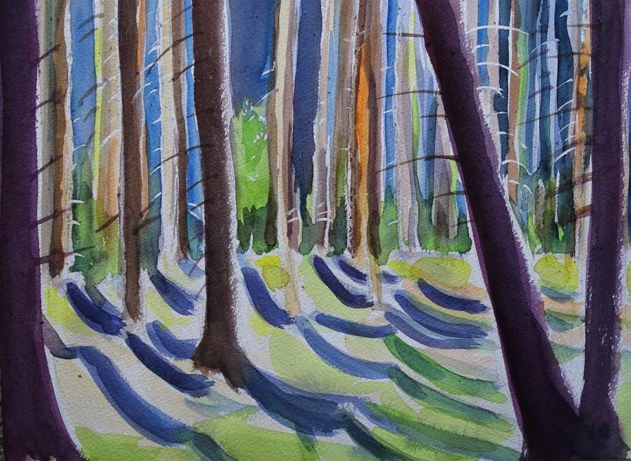 Woods_Wald_Aquarelle_Nadia_Baumgart