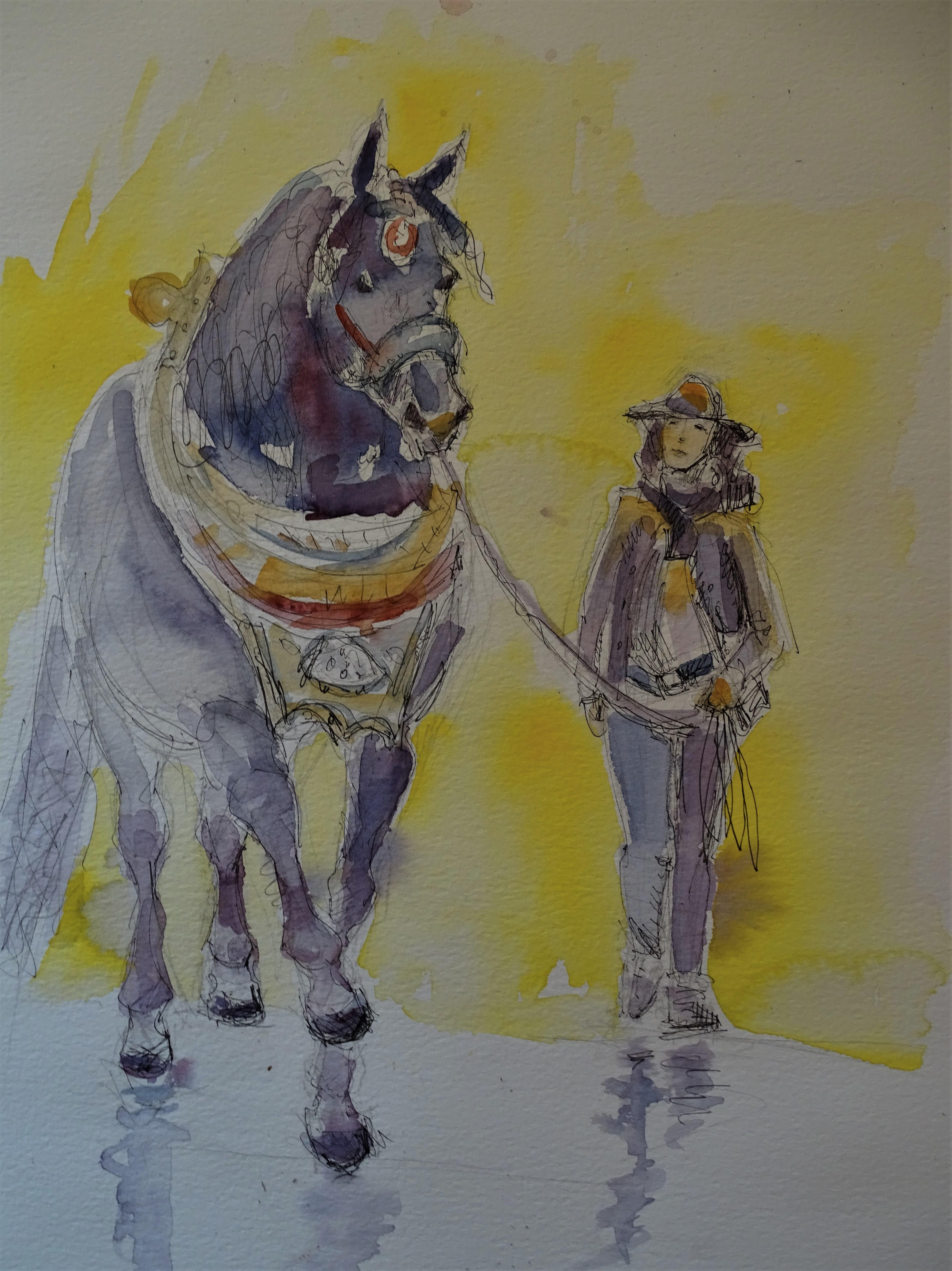 pferd-und-frau-kunst-nadia-baumgart