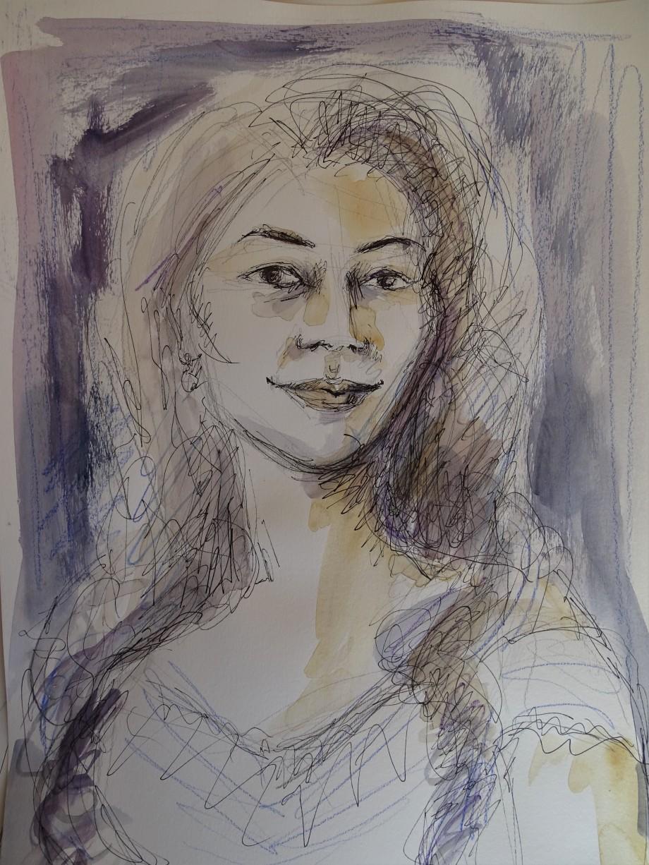 Portrait-Zeichnung-Nadia-Baumgart
