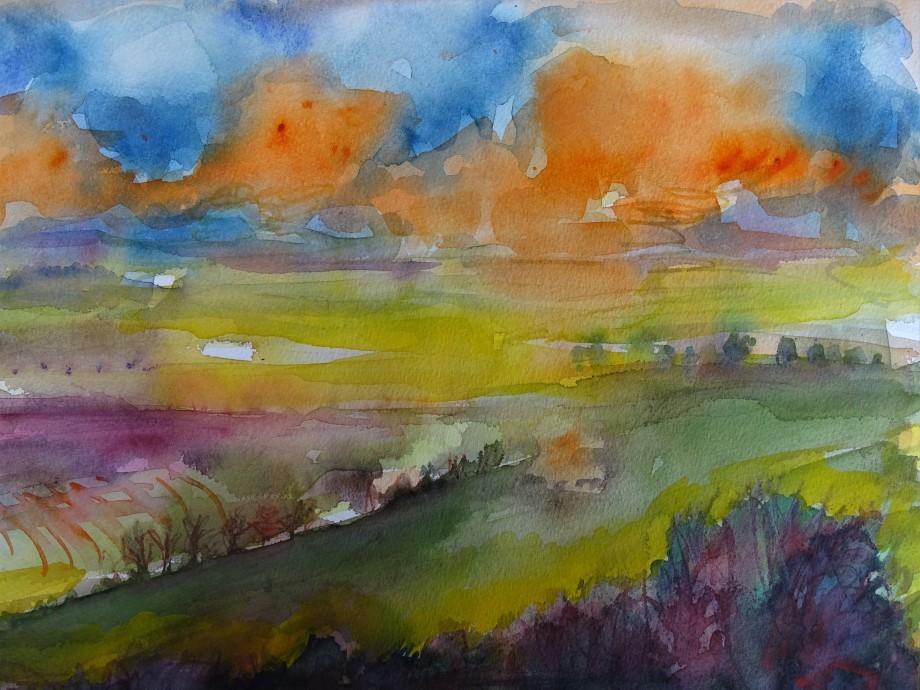 Rottaler-Landschaft-Aquarelle-Nadia-Baumgart-2