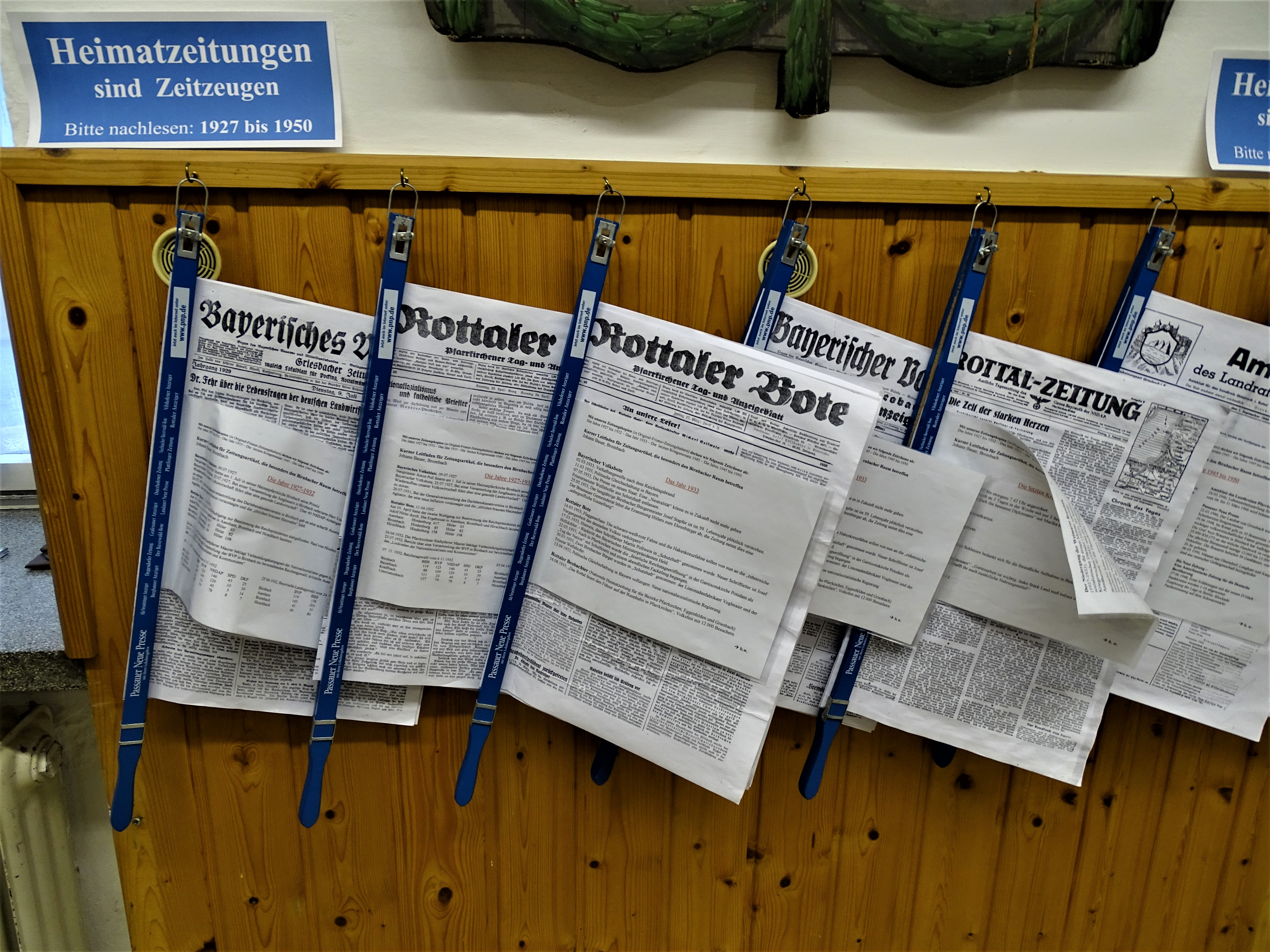 1_Zeitungen_Heimatmuseum_Bad_Birnbach