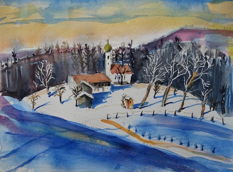 Neujahr_Winter_Aquarelle_Nadia_Baumgart