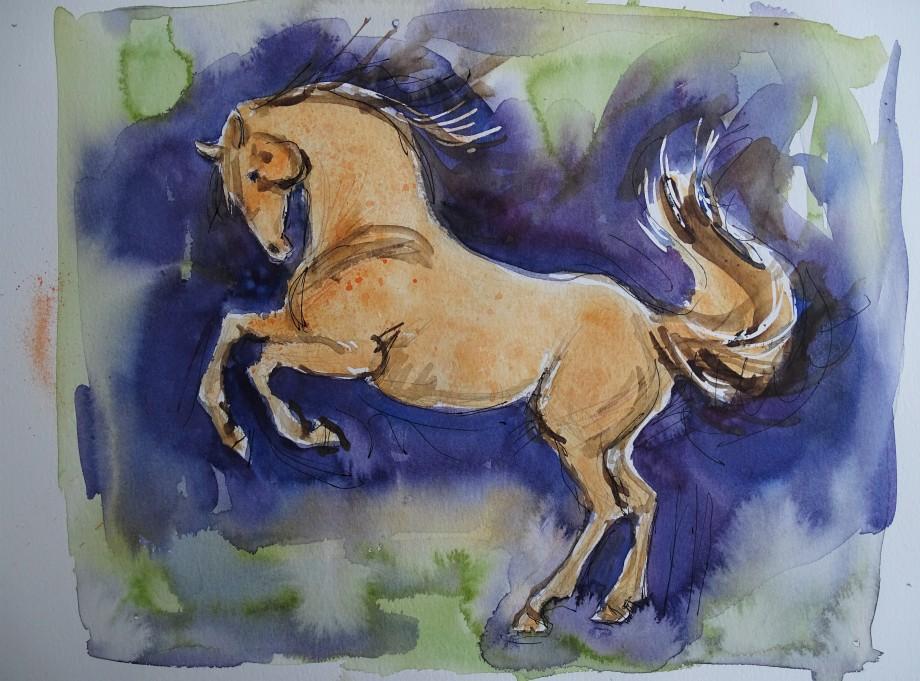 pferd-cheval-aquarelle-nadia-baumgart