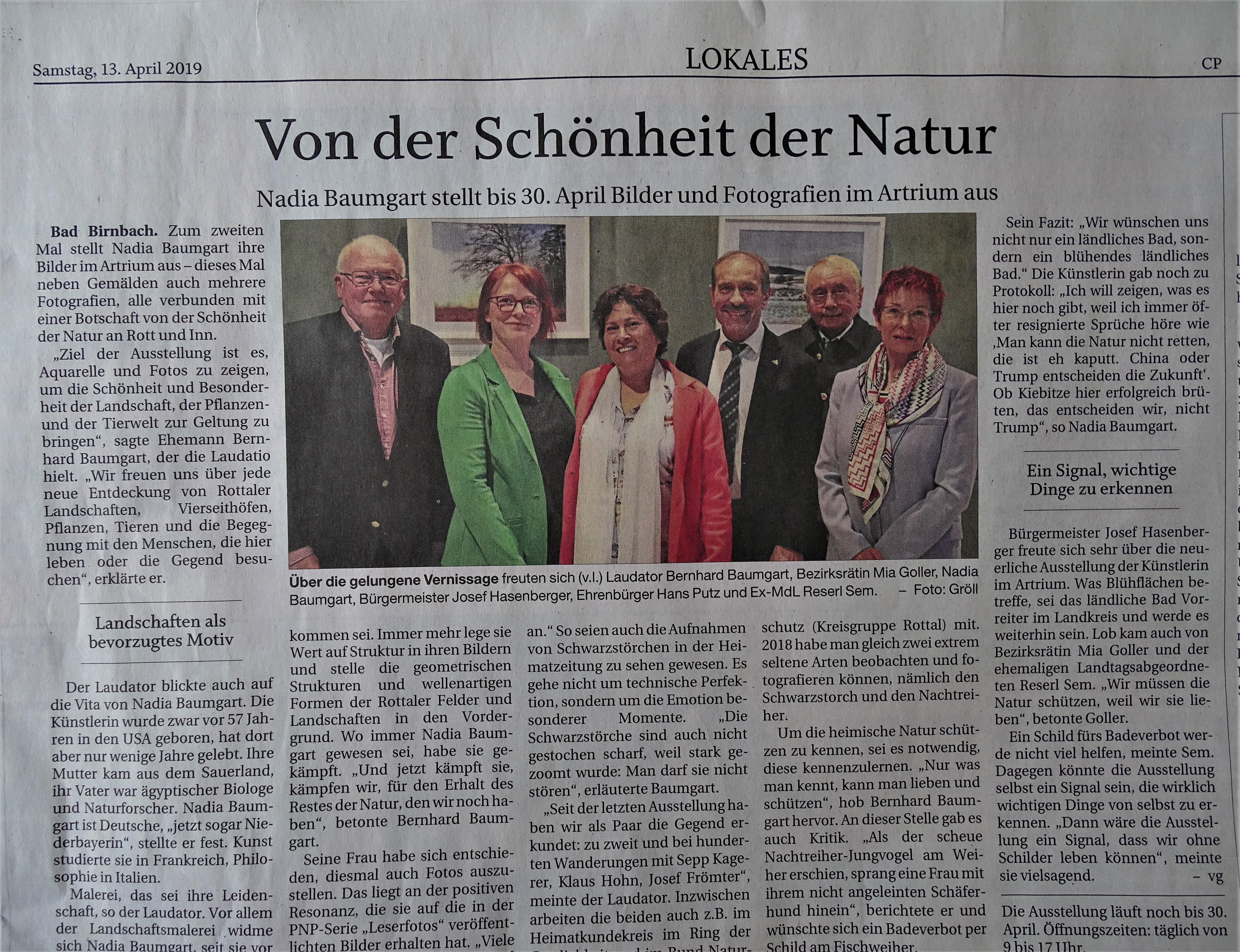 Ausstellung Artrium Landschaft und Natur in Rottal-Inn - Kunst - Nadia Baumgart - Bad Birnbach
