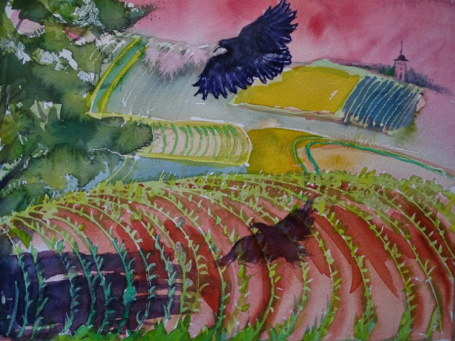 Rottaler Landschaft - Aquarelle