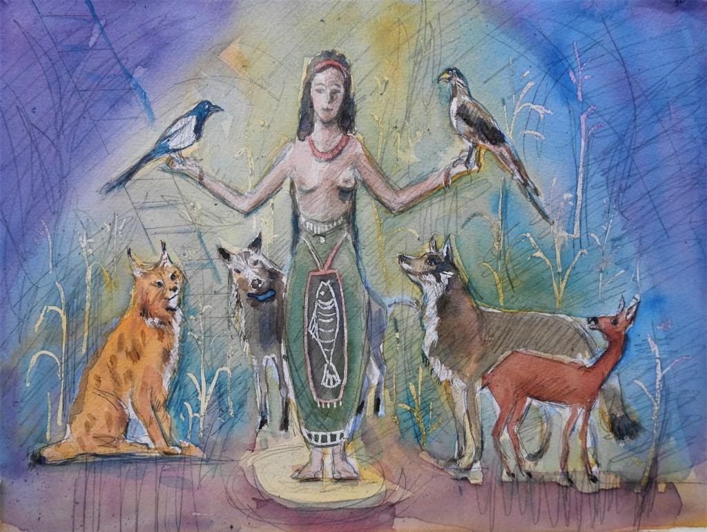 Die Göttin der wilden Tiere