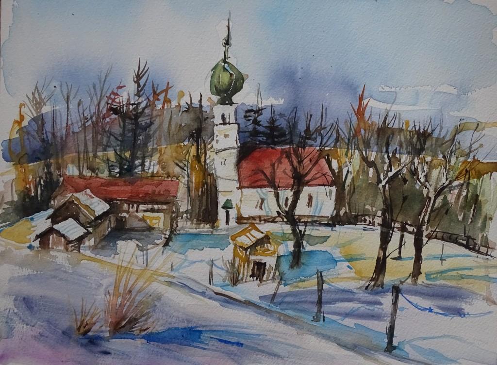 Hölzlberg - Landschaftsmalerei von Nadia Baumgart