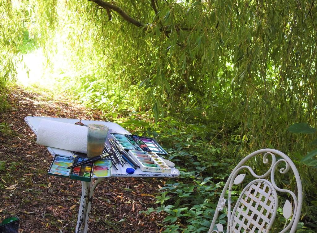 Malerei en plein air in Bad Birnbach
