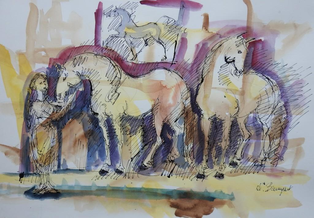 Zuneigung zwischen Pferden und Menschen