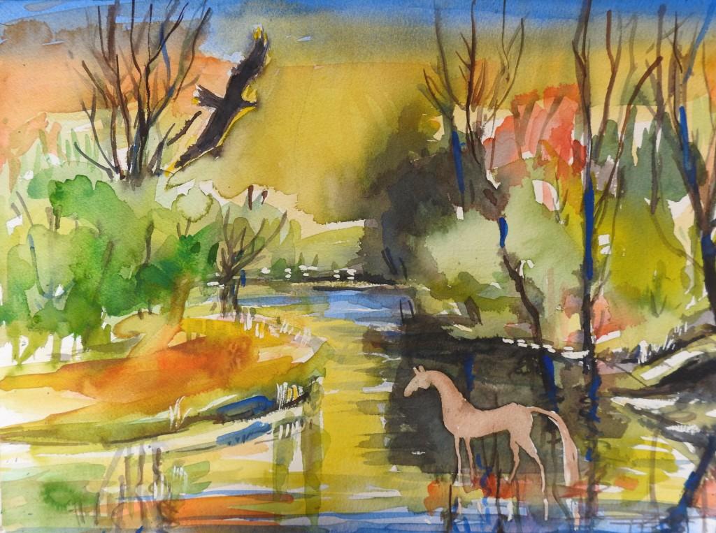 Rottaler Landschaft - Malerei - Landschaft zwischen Rott und Inn