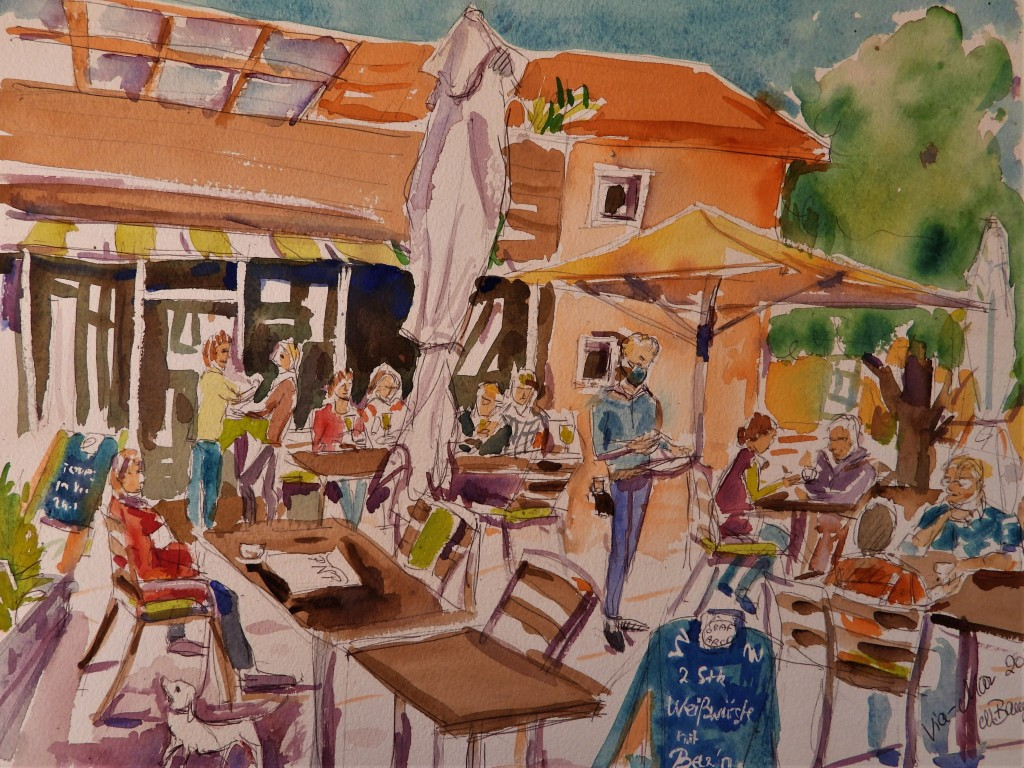 Cafe Viamar in Bad Birnbach - Aquarelle