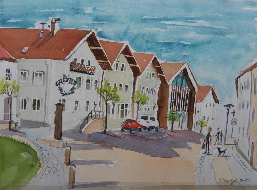 Neues Büro Bachhuber in Hofmark Bad Birnbach - Aquarelle von Nadia Baumgart