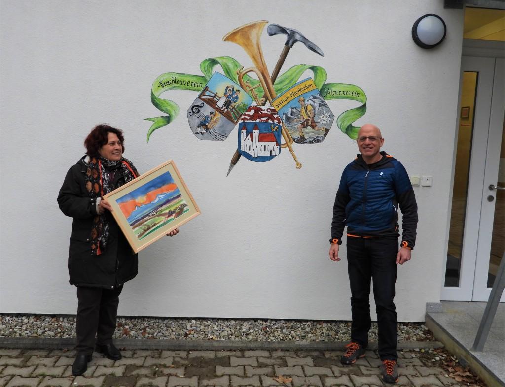 Aquarell für Alpenverein Pfarrkirchen