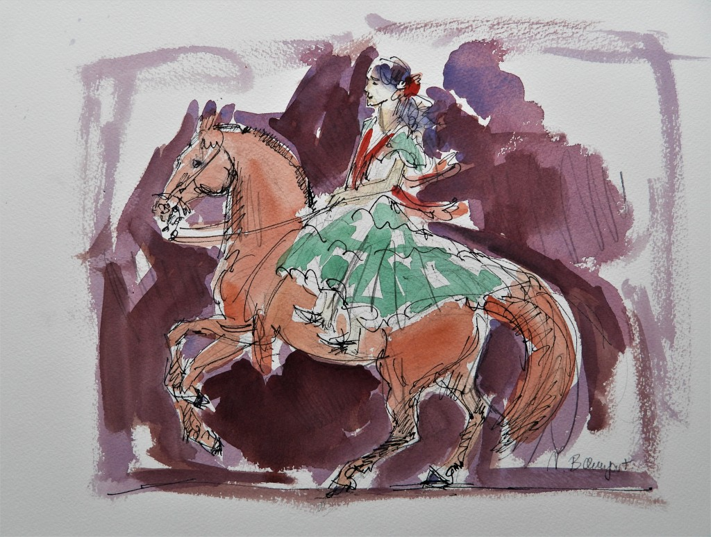 Andalusische Reiterin