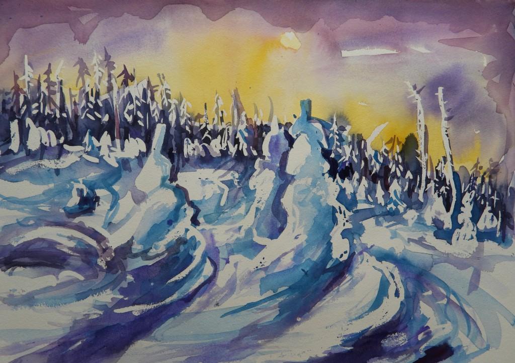 Wald im Schnee Dreisessel Winter