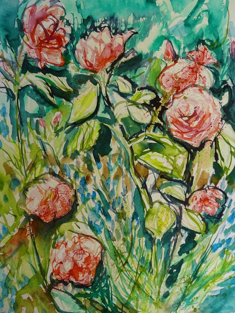 Blumen-Aquarell von Nadia Baumgart