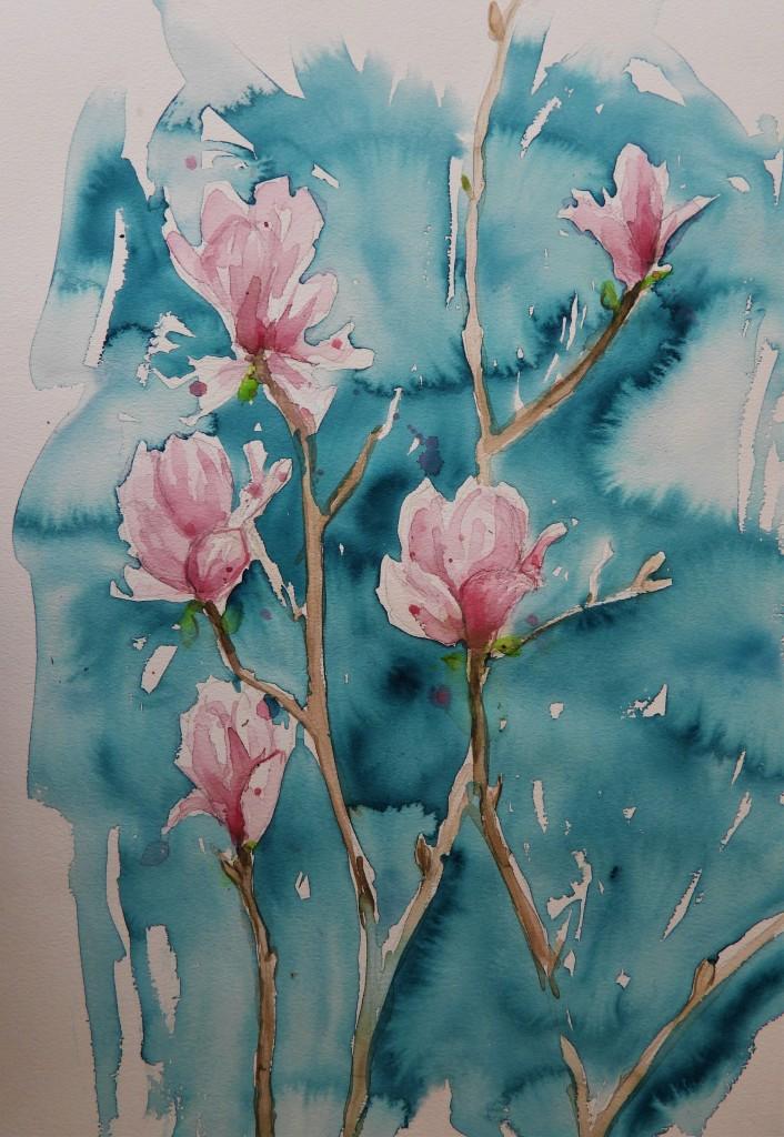Aquarelle der Künstlerin Nadia Baumgart