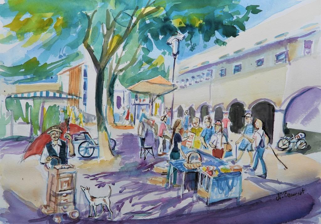 Aquarelle Kunst und Markt