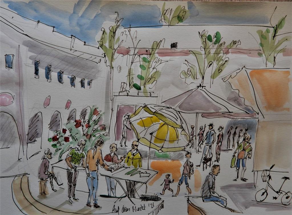 Illustration auf dem Markt in Bad Birnbach