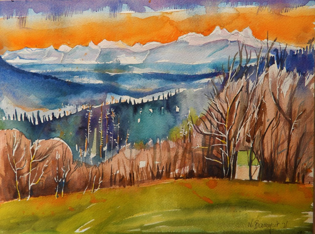 Bayerischer Wald - Malerin Nadia Baumgart