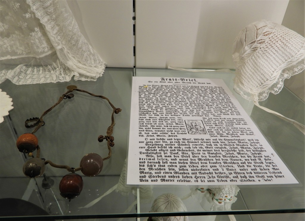 Frais-Brief und Fraisenkette im Heimatmuseum Simbach am Inn