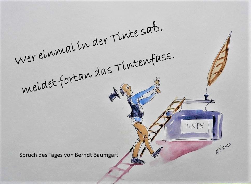 Illustriertes Gedicht von Berndt Baumgart