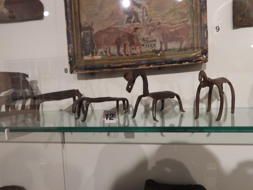 Eisen-Votiv-Tiere 19. Jh. im Heimatmuseum Simbach am Inn